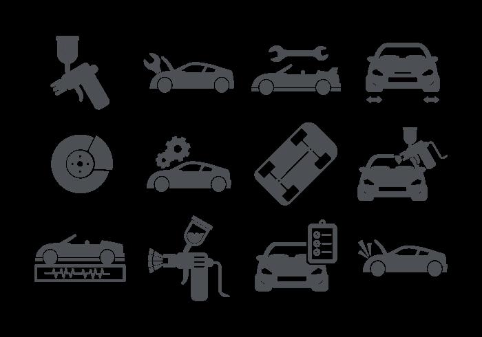 700x490 Auto Body Icons Vector