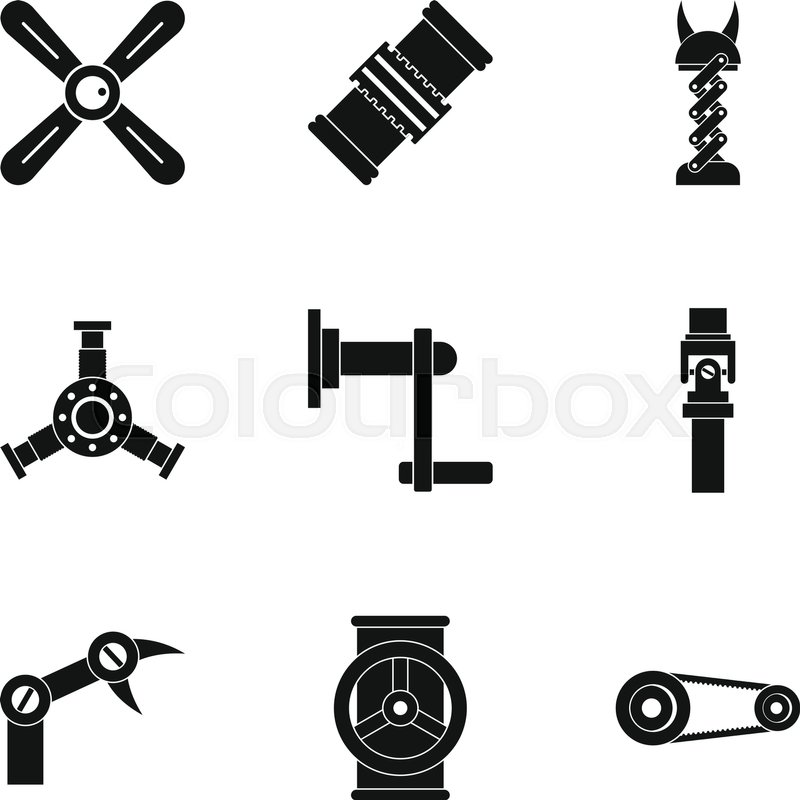 800x800 Auto Parts Icon Set. Simple Style Set Of 9 Auto Parts Vector Icons