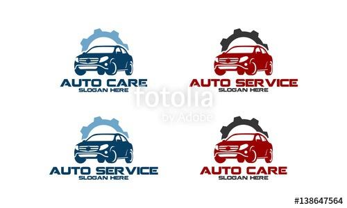 500x300 Automotive Service, Automotive Repair, Car Service Logo Vector