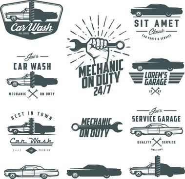 379x368 Car Repair Vintage Logos Vector Png Images, Backgrounds And