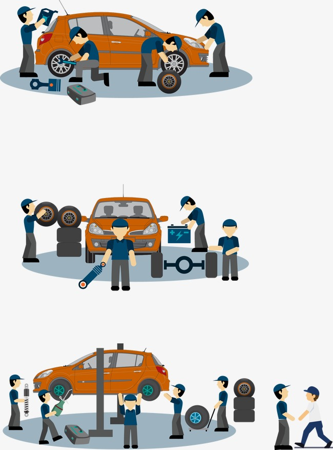 650x877 Vector Car Repair, Car Repair, Repairman, Vector Png And Vector