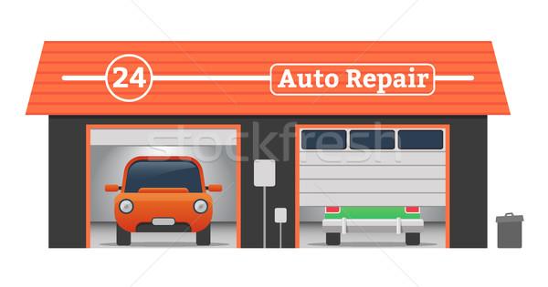 600x315 Auto Repair Vector Garage Concept Vector Illustration Mariia