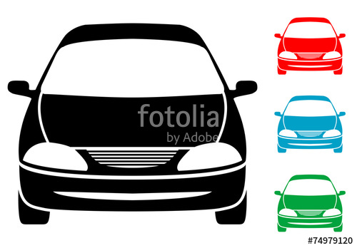 500x348 Pictograma Automovil Frontal Con Varios Colores Stock Image And