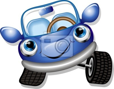 400x315 Cartoon Baby Car Vector Vinilos Para