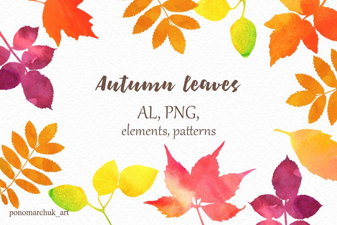 1158x772 Autumn Leaves, Vector