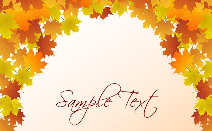 715x442 Vector Autumn Leaf Background