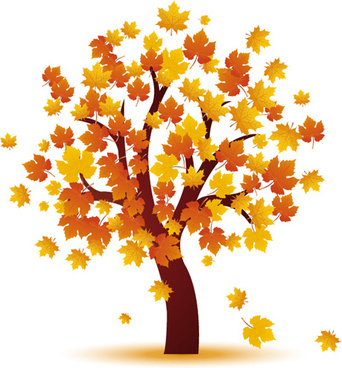 342x368 Autumn Park Tree Free Vector Download (6,464 Free Vector) For