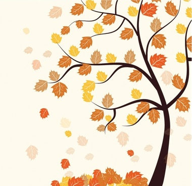 380x368 Fall Tree Vector Free Vector Download (5,657 Free Vector) For