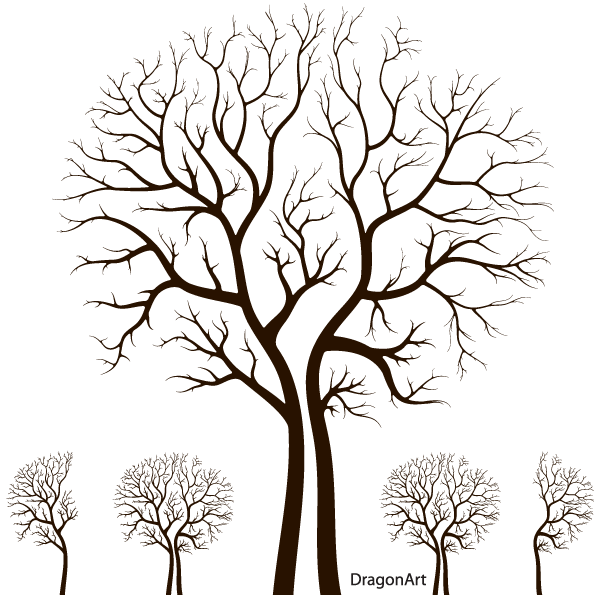 600x595 Free Leafless Autumn Tree Design Psd Files, Vectors Amp Graphics