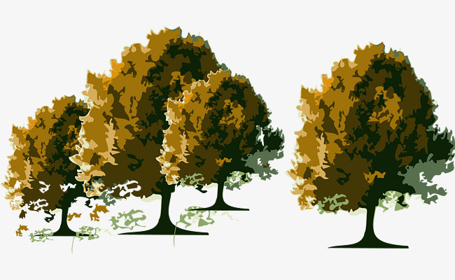 650x400 Vector Autumn Trees, Vector, Trees, Autumn Trees Vector Png And