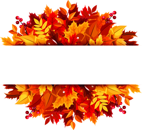 457x418 Beautiful Autumn Leaves Vector Background Graphics Free Vector In