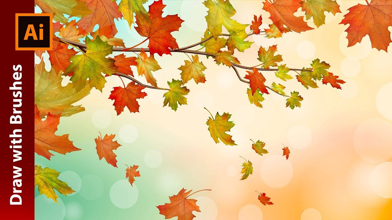 1280x720 Create An Autumn Vector Illustration With Maple Leaves