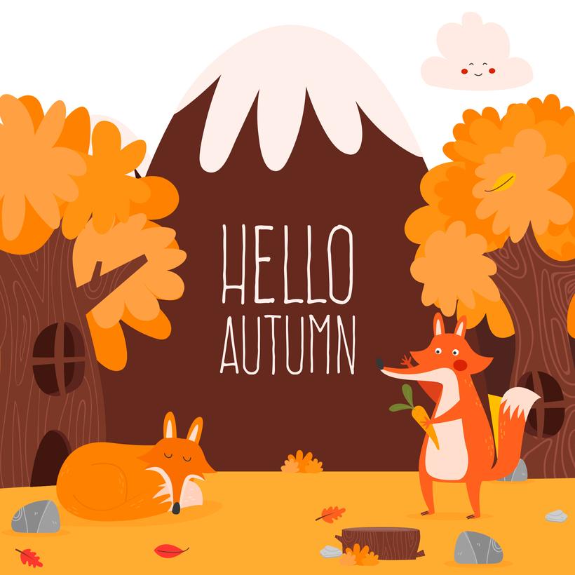 820x820 Hello Autumn. Vector Illustration Domestika