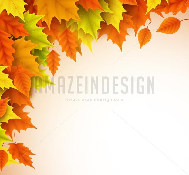 623x577 Autumn Vector Background Template For Fall Season