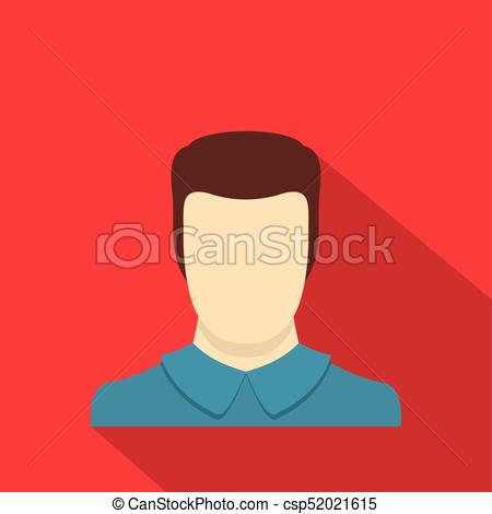 450x470 Male Avatar Icon Vector Flat. Male Avatar Icon. Flat Illustration