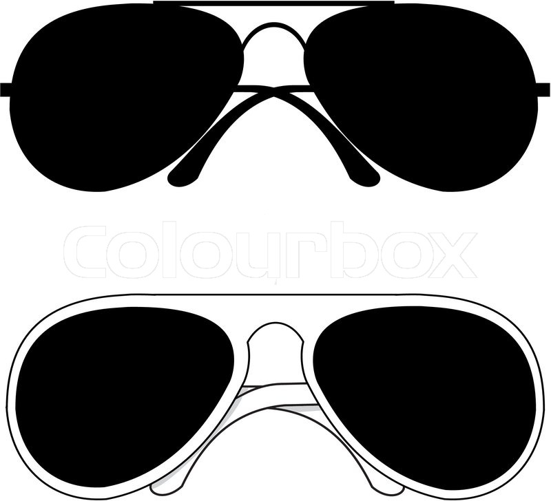 800x728 Isolated Black Trendy Classical Sunglasses In Metal And White