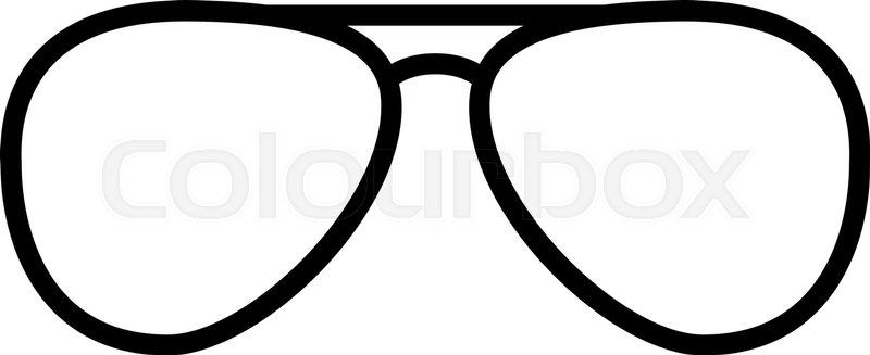 Aviator Glasses Vector At Getdrawings Com