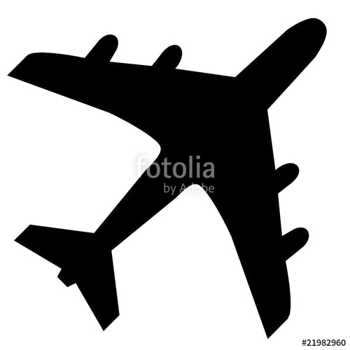 500x500 Avion, Vecteur Stock Image And Royalty Free Vector Files On
