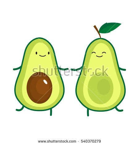 450x470 Illustration Of Cute Dancing Avocado. Vector Illustration