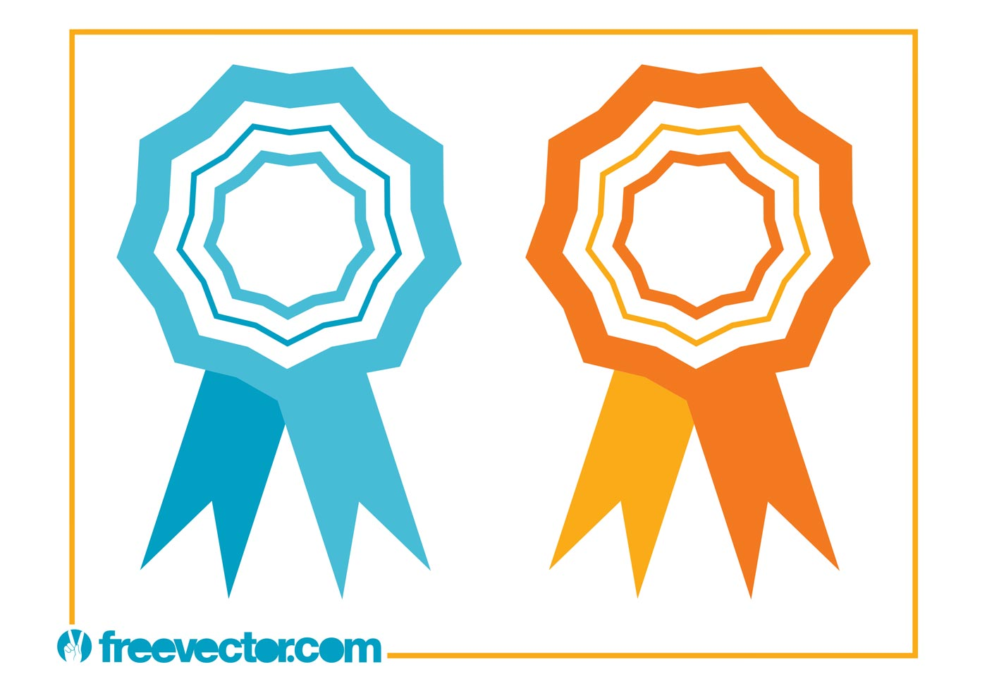 1400x980 Award Ribbon Free Vector Art