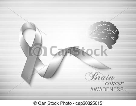 450x352 Brain Cancer Awareness Ribbon. Vector.