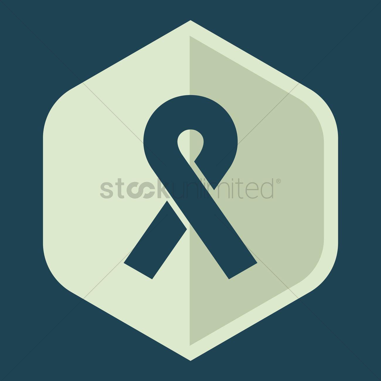 1300x1300 Free Aids Awareness Ribbon Vector Image