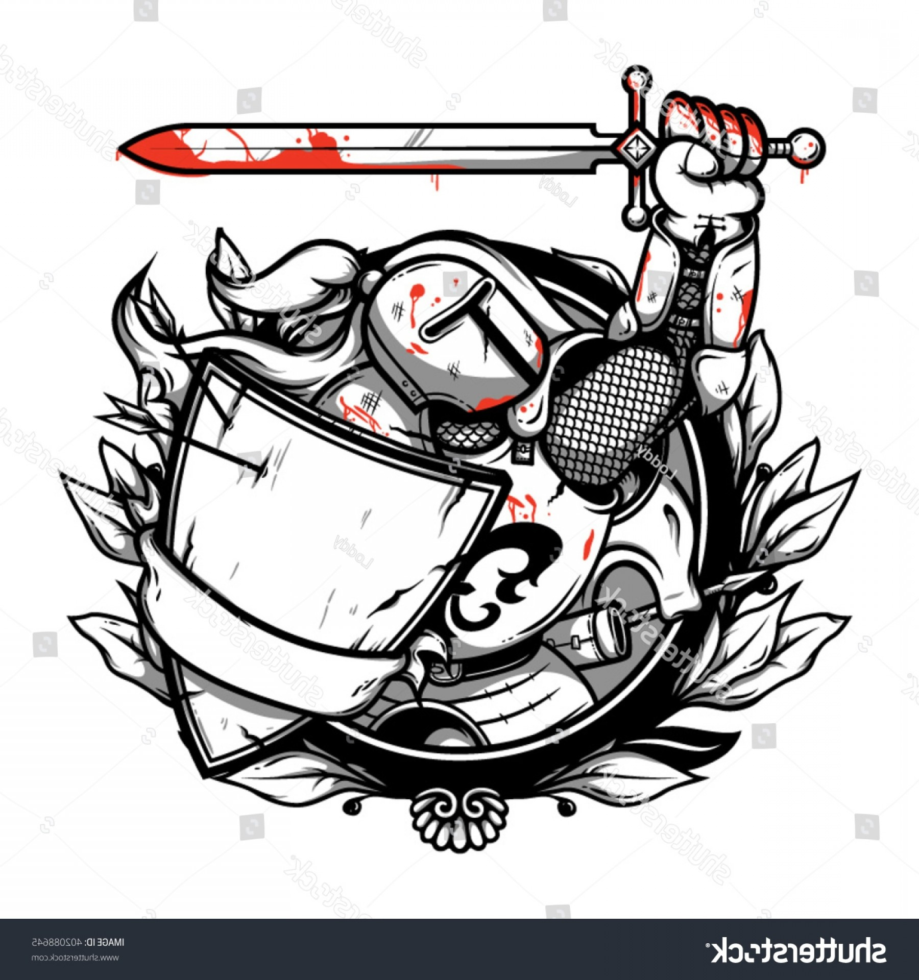 1800x1920 Knight Logo Ideas Awesome Knight With A Big Sword Stock Vector Art