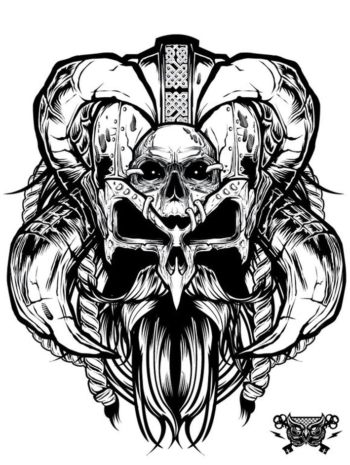 709x942 Awesome Grayscale Vector Illustration By Joshua M. Smith