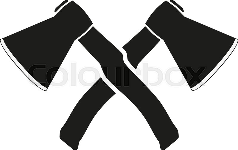 799x503 The Crossed Axes Icon. Axe And Hack Symbol. Flat Vector