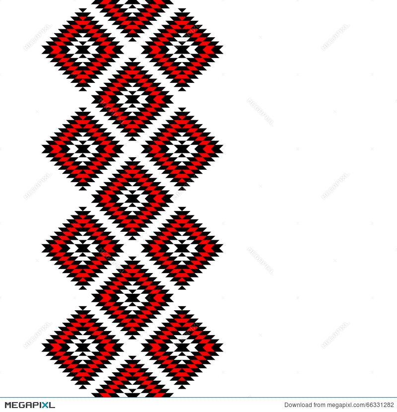 800x830 Black Red And White Aztec Ornaments Geometric Ethnic Seamless