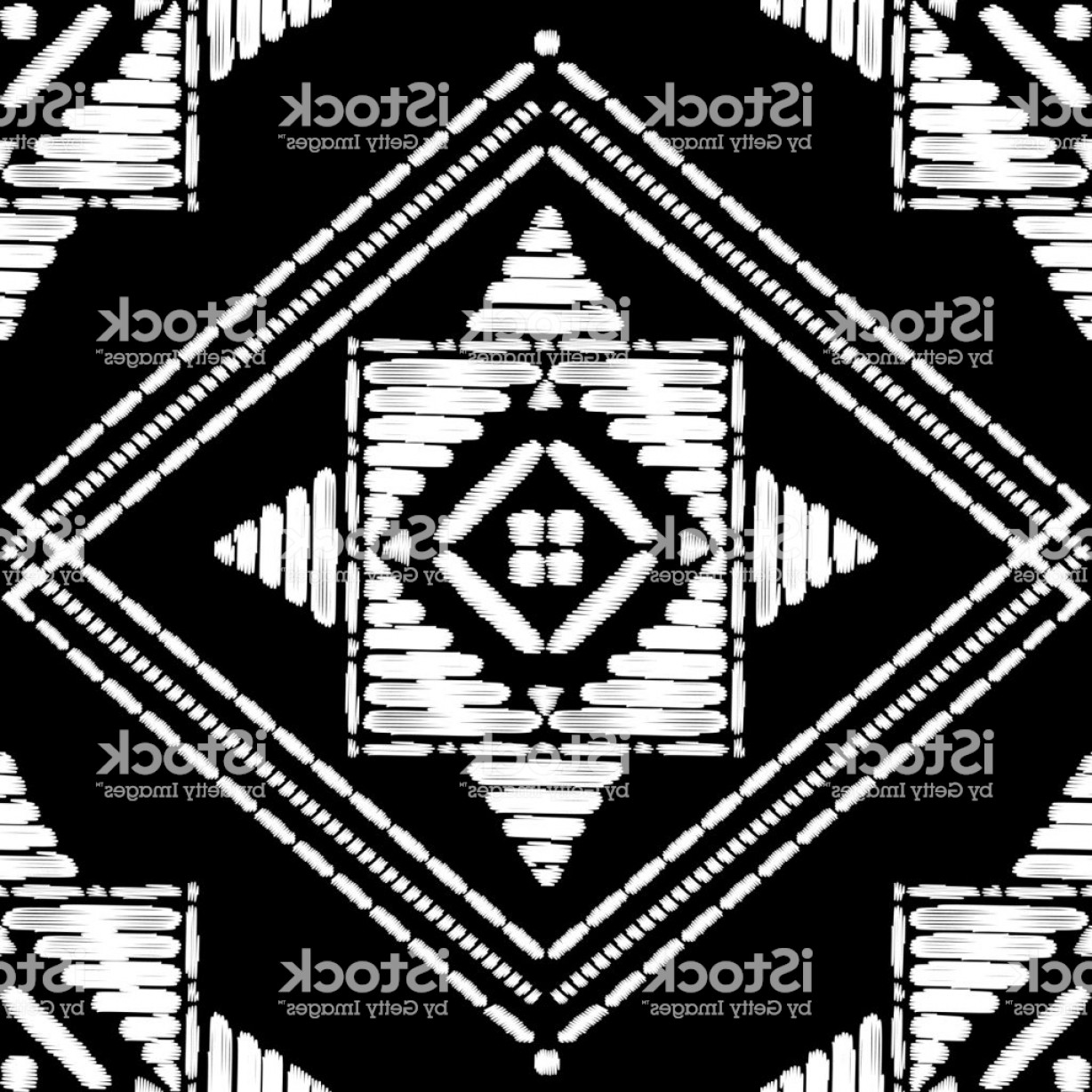 1228x1228 Aztec Embroidery Pattern Design Seamless Vector Abstract Geometric