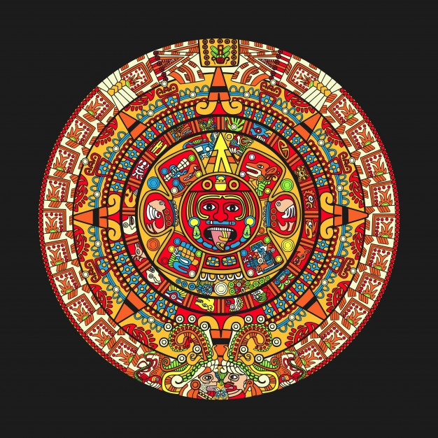 Aztec Calendar Vector at GetDrawings com | Free for personal use