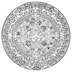 Aztec Sun Vector