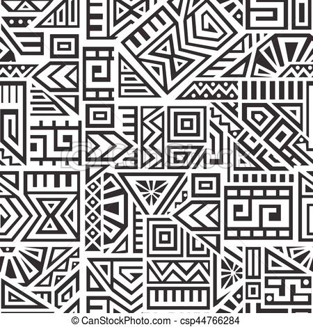 450x470 Aztec Vector Seamless Pattern. Unique Geometric Vector Seamless