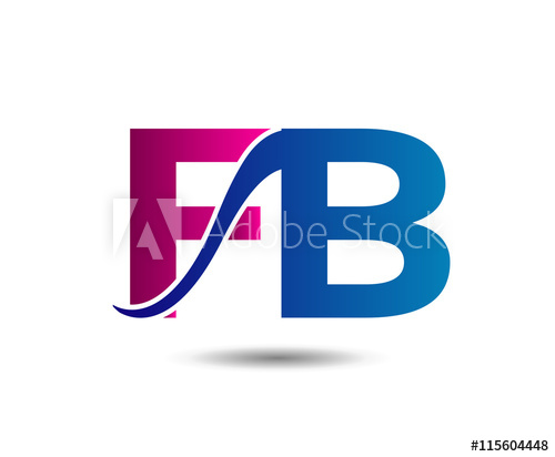 500x412 Elegant Alphabet F And B, Fb Letter Logo. Vector Illustration