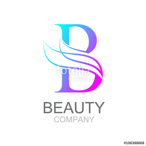 500x500 Abstract Letter B Logo Design Template With Beauty Industry And