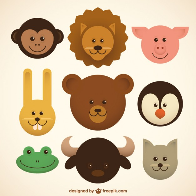 626x626 Baby Animals Icons Vector Free Download