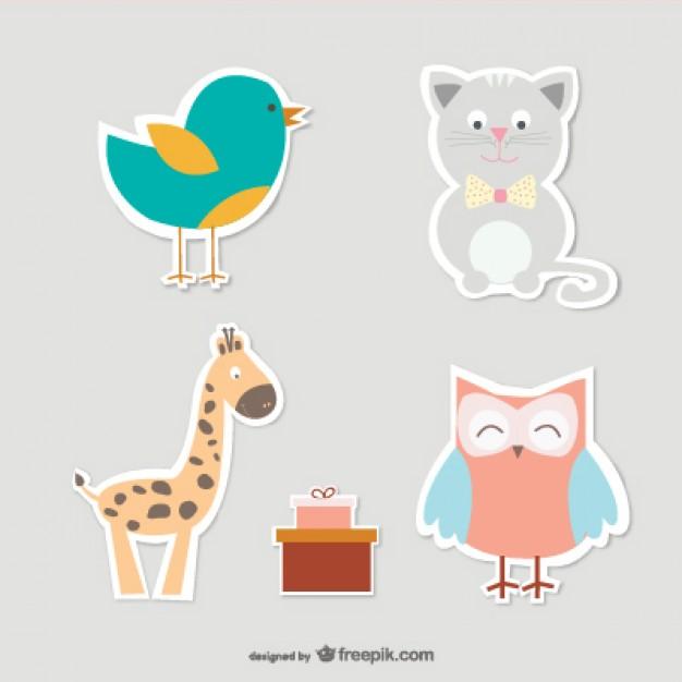 626x626 Baby Animals Vector Collection Vector Free Vector Download In