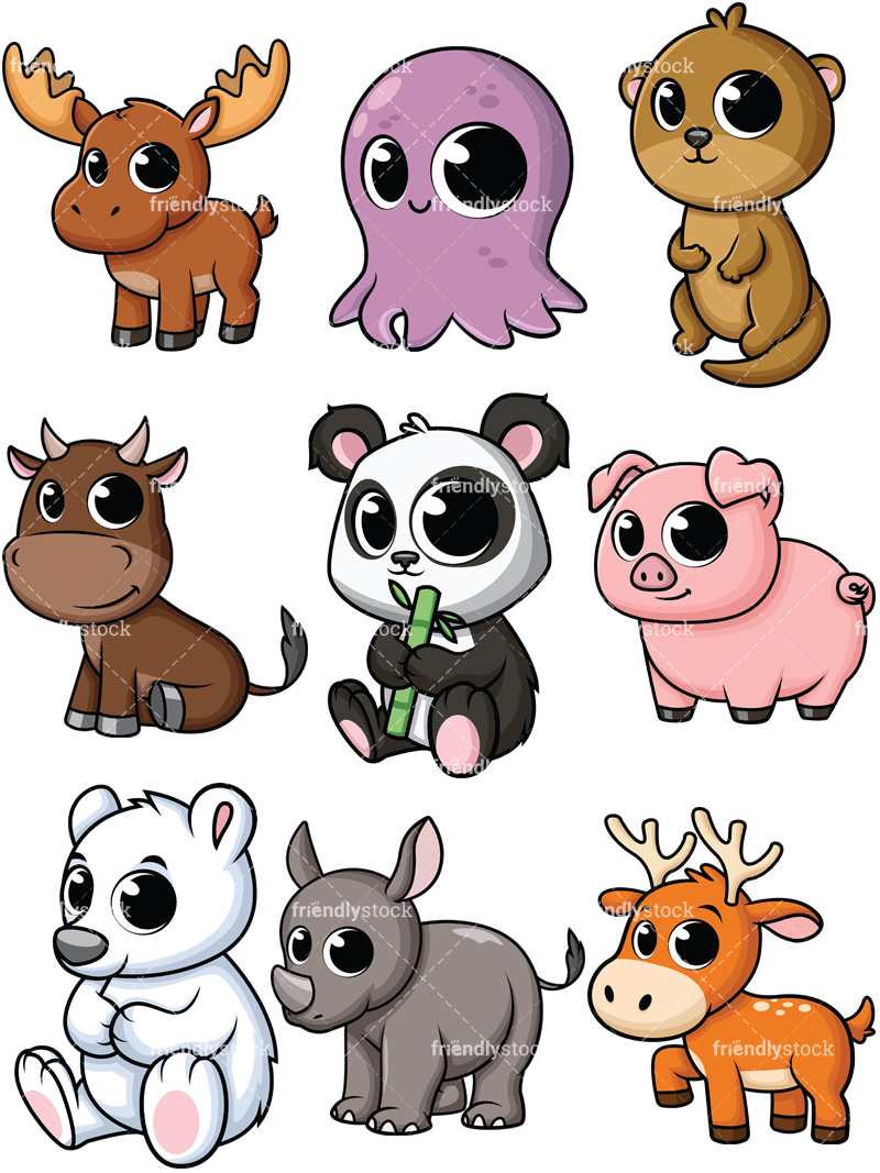 800x1067 Cartoon Baby Animals Clipart