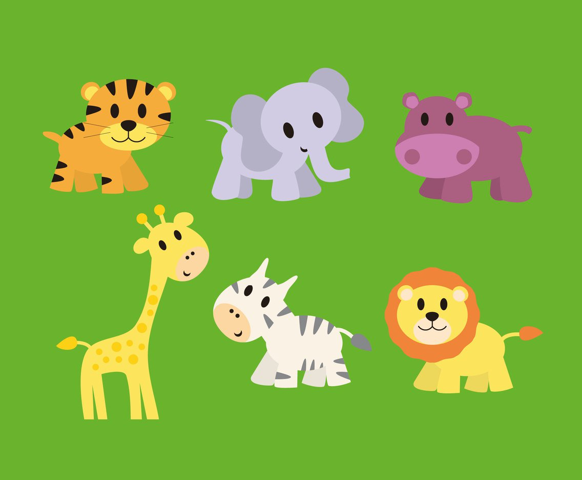 1136x936 Cute Baby Animals Vector Vector Art Amp Graphics