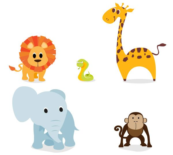 600x537 Free Cute, Vector Animal Graphics And Character Designs Tutin