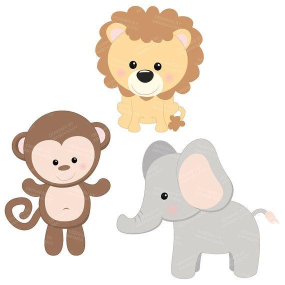570x570 Professional Baby Jungle Animals Clipart Amp Vector Set