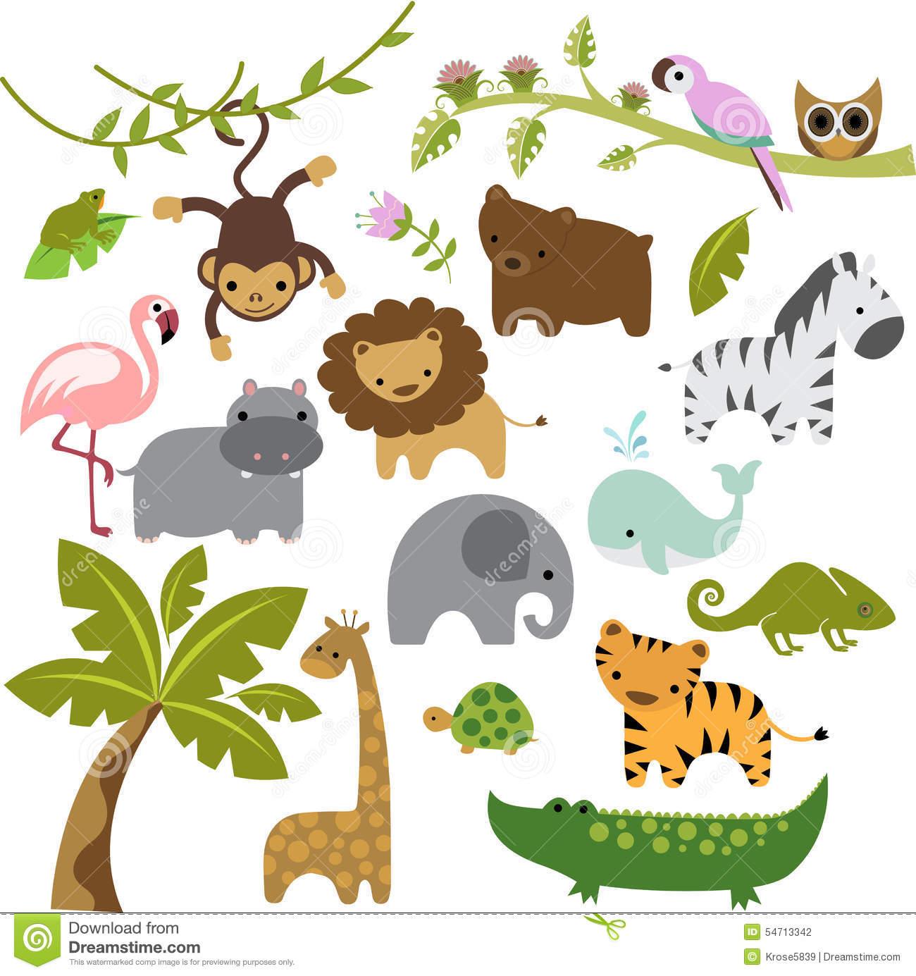 1300x1385 Baby Animal Clipart Vector Art
