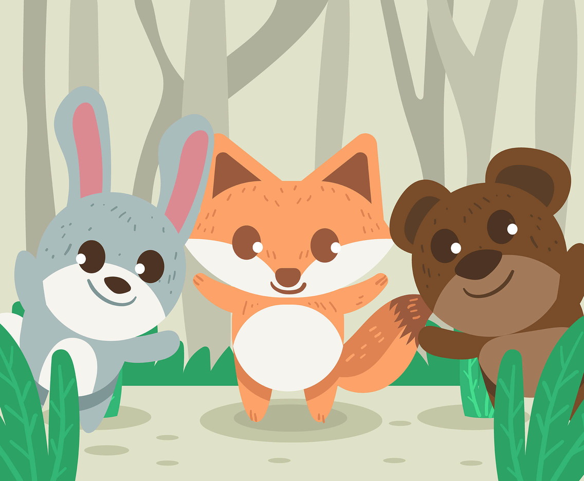 1136x936 Three Baby Animals Vector Vector Art Amp Graphics
