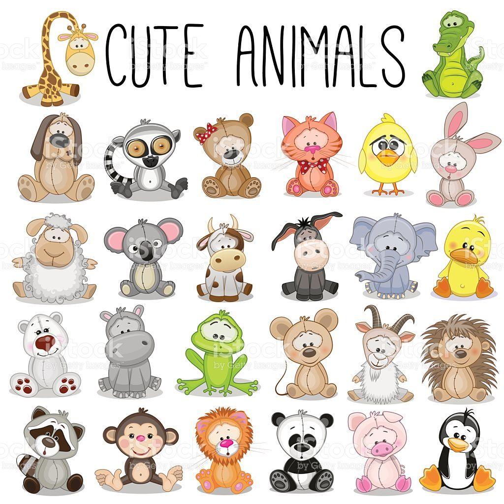 1024x1024 Set Of Cute Animals Vector Id507108822