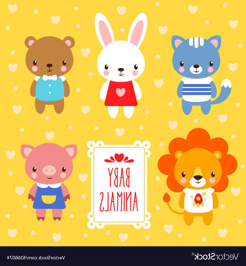 1000x1080 Best Free Set Of Cute Baby Animals Vector Images