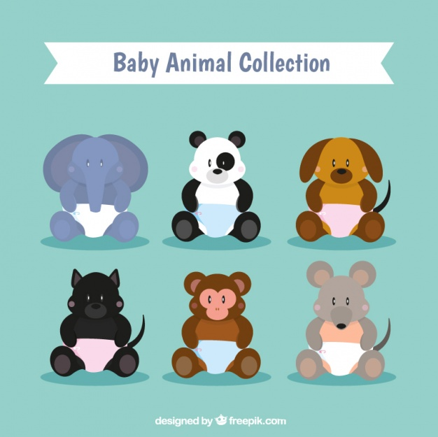 626x625 Collection Of Baby Animals Vector Free Download