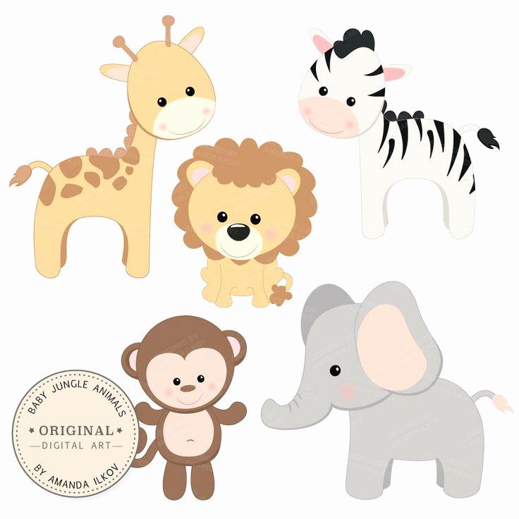 736x736 Cute Baby Animals Vector Elegant Cute Baby Animals Vector Clip Art