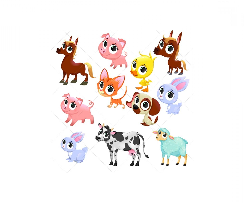 1440x1200 Cute Farm Animal Vector Set Farm Baby Animals Ardiafm