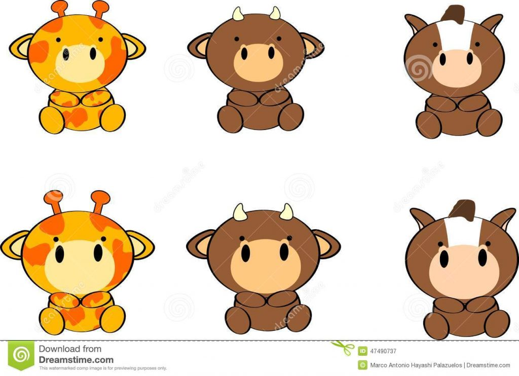 1024x743 Perfect Baby Animal Cartoon Pictures Cute Animals Set8 Stock